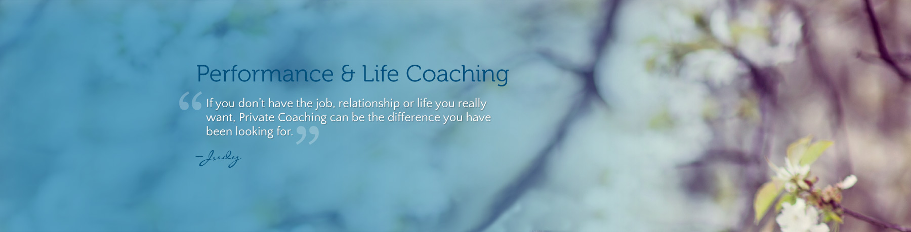 Private Life Coaching
